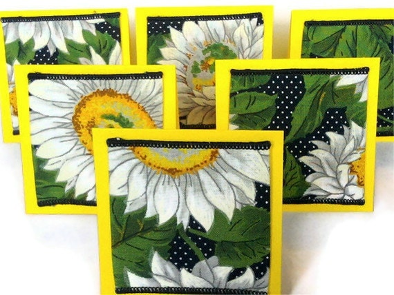 Sunflower Mini Cards 3x3 Set of 6 for Any Occasion