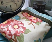 Cameo Comfort Pillow (Hot/Cold Flax Seed Pouch) - MODA Multicolor Floral (Ivory, Pink, Blue & Green)