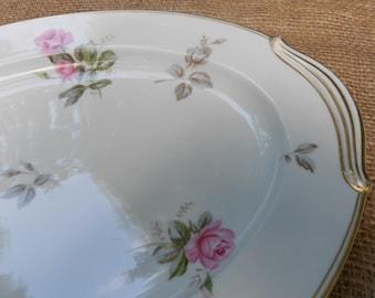 Noritake Rosa Pattern Large Oval Serving Platter #5460