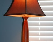 Hand Turned Three Wood Table Lamp