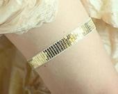 Gold garter, Chic Modern Garter, Bridal Garter