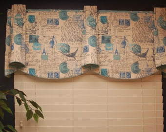 "Custom Made TOP HAT Hidden Rod Pocket® Valance fits 47""- 66"" window"