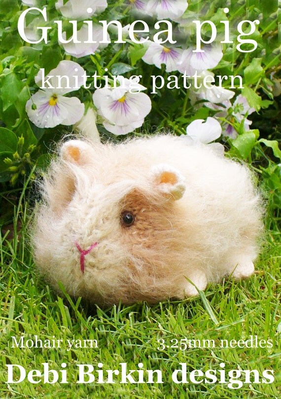 guineapig guinea pig  PDF email toy knitting pattern