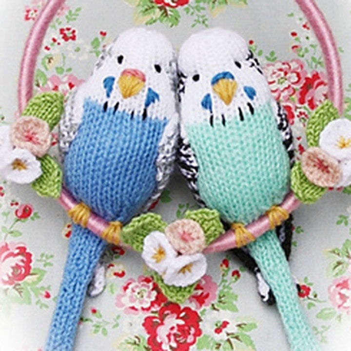 Parrot Knitting Pattern Free : budgies knitting pattern budgerigar PDF email toy budgie bird