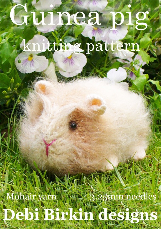 Knitting Pattern For A Guinea Pig : guineapig guinea pig PDF email toy knitting pattern