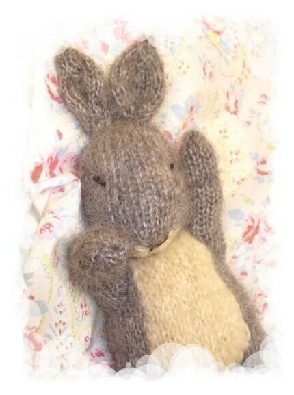 sleepy bunny rabbit PDF email toy knitting pattern