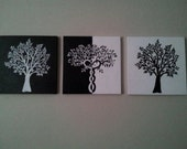Black and White painted canvas