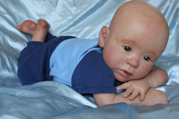 "Beautiful, Realistic Infant Reborn doll  ""Milo"" sculpt by Rebecca Biedermann"