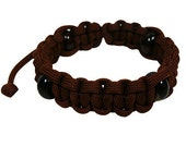 Color Plus Agate Series - Brown Paracord Bracelet