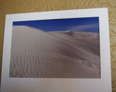 Stunning white sand dunes - New Mexico -  Fine Art Photography 8x12 print with mat - blue sky and white sands landscape - nature