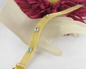 Pale Blue Rhinestone Mesh Buckle Bracelet Gold tone jewelry