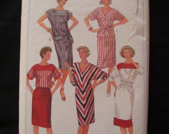 50% OFF SALE-1984 Simplicity 6745 Misses dress pattern