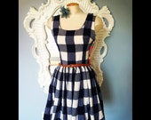Navy Blue Picnic Dress