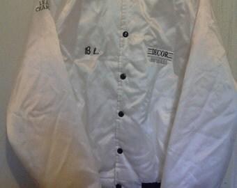 Vintage White Satin softball jacket New