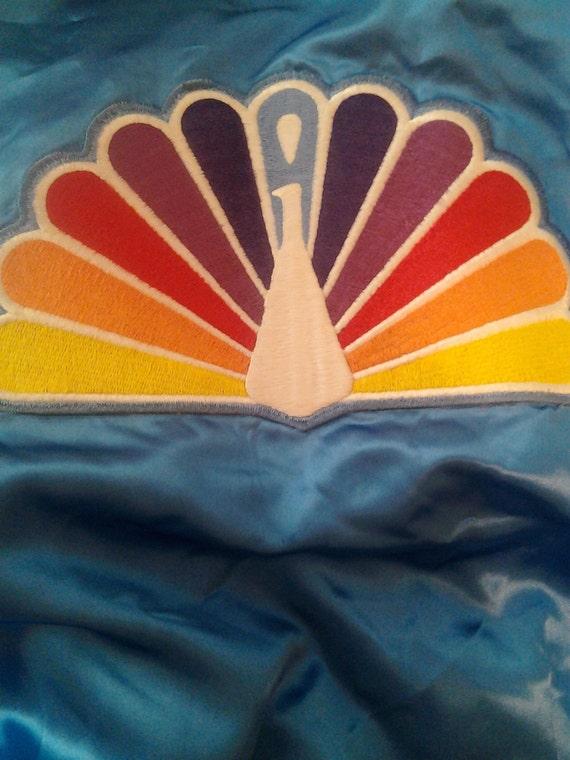 Vintage blue NBC Peacock satin jacket new