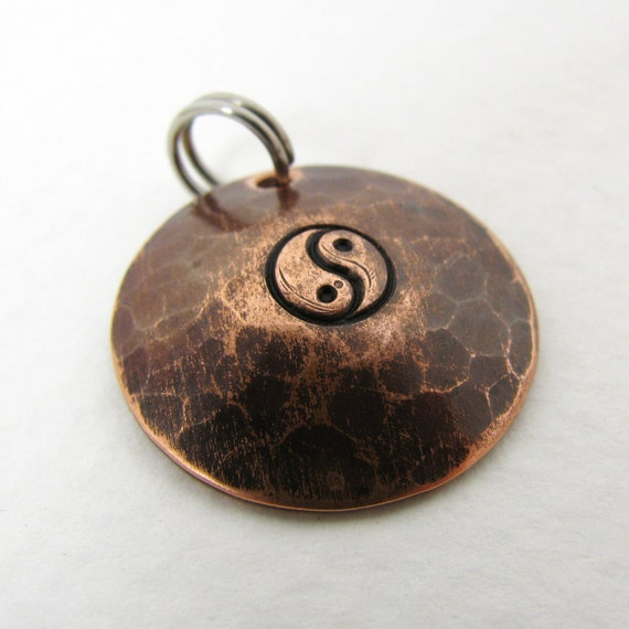 Copper Pendant, Yin Yang Symbol