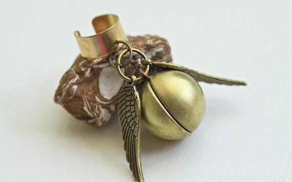 Harry Potter Golden Snitch Ear cuff Steampunk