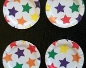 Miniature Dollhouse Paper Plates Star Pattern Set 4