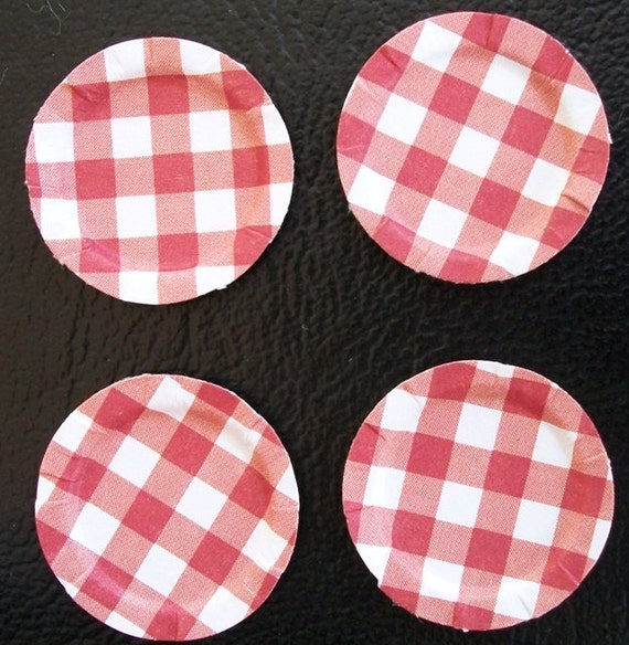 Checker Plate Paper Dollhouse Paper Plates Red