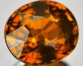 Natural Deep Amber Colored Faceted Oval Tourmaline 1.19 Ct. 7x6, Nigeria