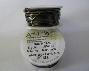 20g Gunmetal Colored Copper Wire Artistic Wire 6 yards 5.49 meters