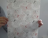 Decorative Butterfly Paper - 1 sheet - A4 (8.26 inches x 11.61 inches)