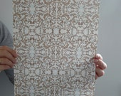 Gold Damask decorative paper - 1 sheet - A4 (8.26 inches x 11.61 inches)