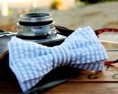 Classic Seersucker Bow Tie for Men