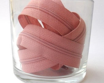 Salmon Pink Zippers - YKK Brand - 25 Pieces - 9 inch