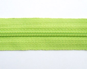 Light Green Zippers - YKK Brand - 25 Pieces - 7 inch