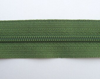 Zippers - Olive Green - YKK Zippers - 10 Pieces - 10 inch