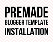 Optional Blogger Template Installation