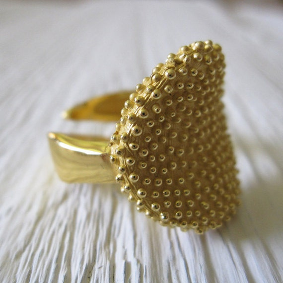 Gold Ring, Gold Plated Ring, Adjustable handmade ring , Fine Jewelry, Contemporary Engagement Ring