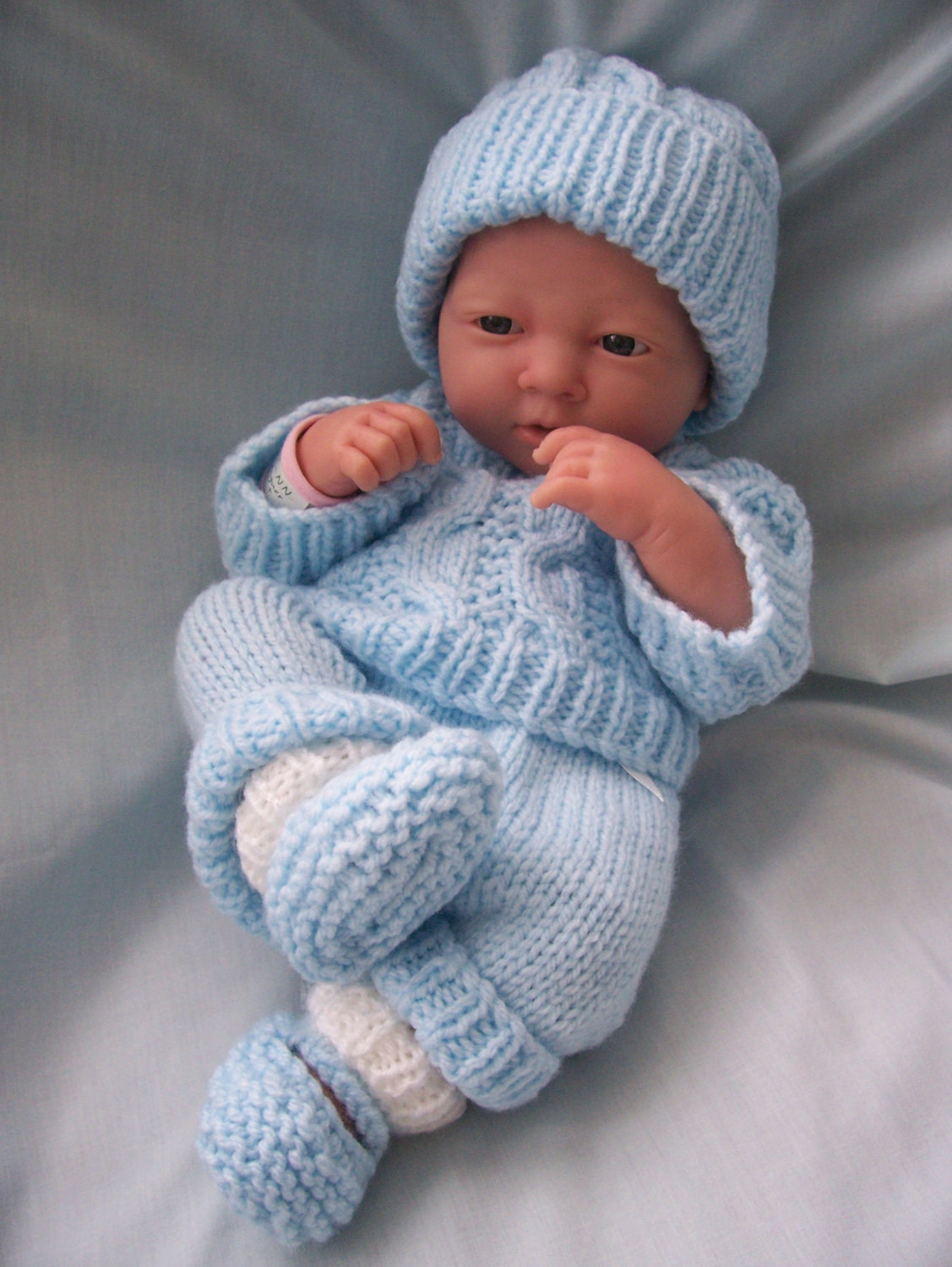 hand knitted dolls clothes by lookwhatmumsmade on etsy