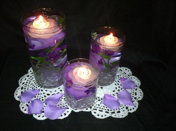 Items similar to elegant wedding centerpiece purple