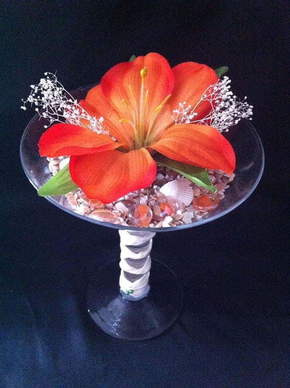 Items similar to fun oversized martini glass centerpiece