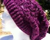 Daisy Stitch Slouchy Beanie Hat
