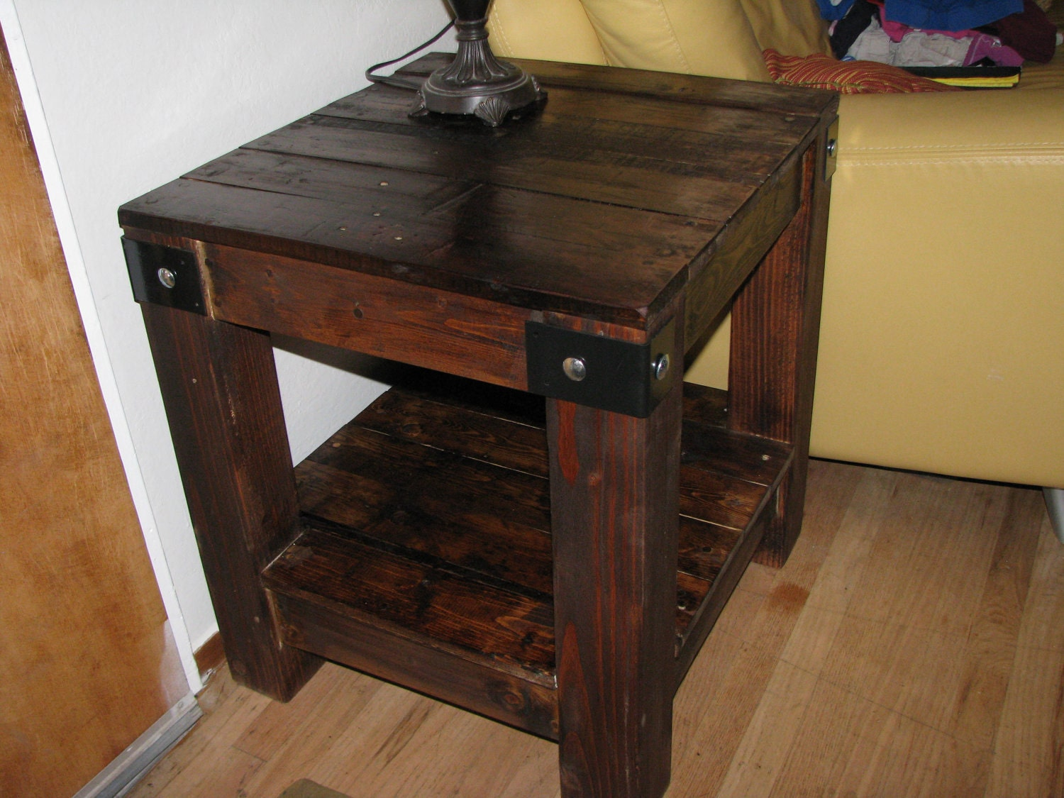 Items Similar To Rustic Urban Side Table On Etsy
