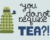 You Do Not Require TEA - Dalek - Cross Stitch Pattern