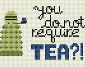 You Do Not Require TEA - Dalek - Finished Cross Stitch