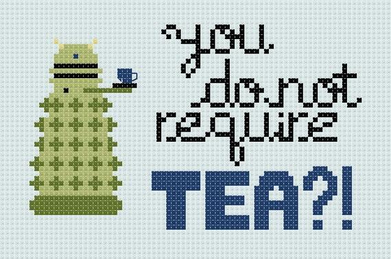 You Do Not Require TEA - Dalek - Cross Stitch Pattern