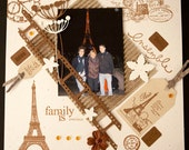 Kit Scrapbook Page Personalized Tour Eiffel Named PARIS