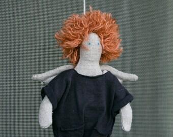 Redhead Angel (handmade doll)