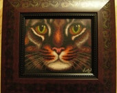 Cat - cross stitched picture