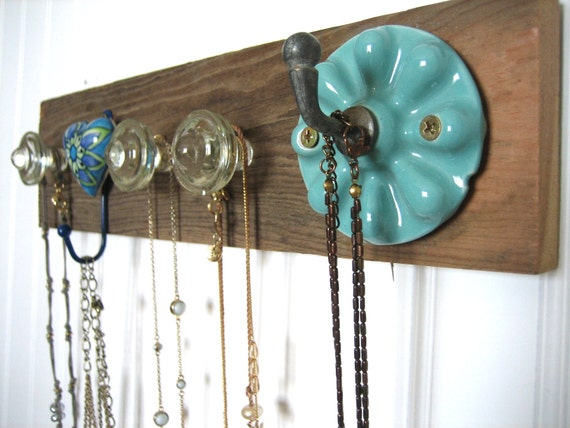 Jewelry Rack with Shades of Turquoise