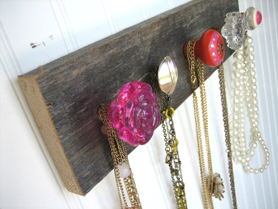 "Jewelry Organizer ""Pretty in Pink"" Necklace Holder"