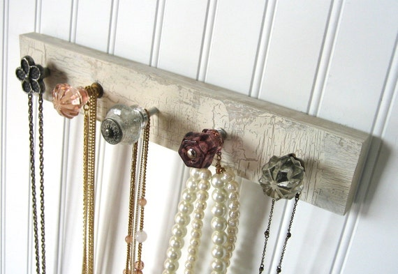 Jewelry Rack Necklace Display with Five Unique Knobs