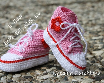 PDF with 100 photos - Baby Boy and Girl Booties Crochet Pattern - Instant Download