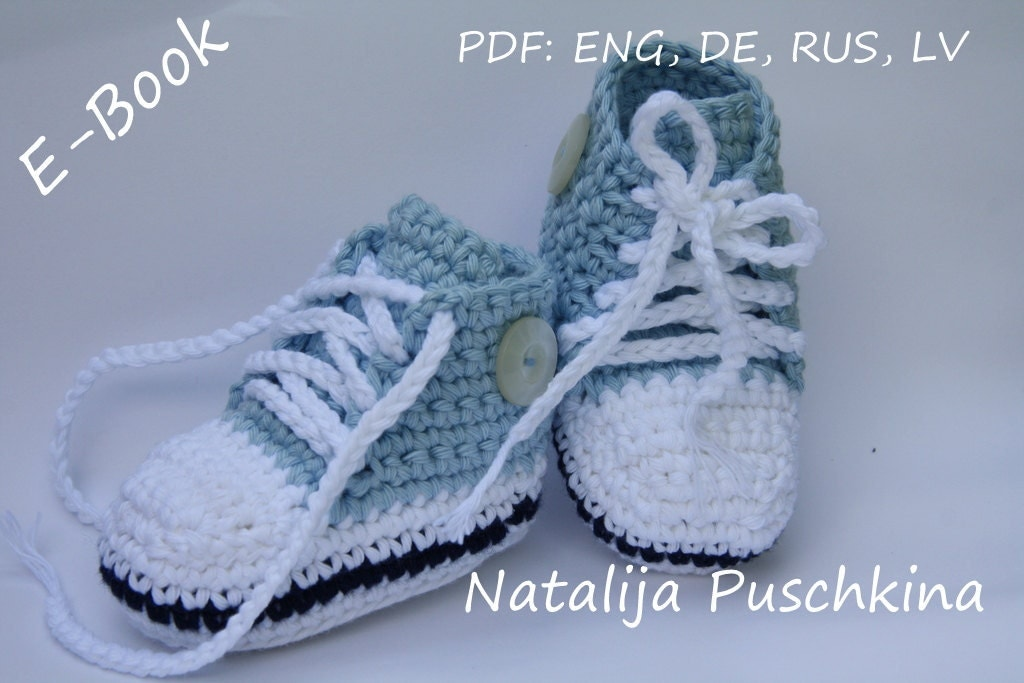 Hakelanleitung Herbst : Crochet Pattern Baby Tennis Shoes