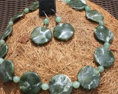 Russian Rhyolite Wave Beads Necklace SALE